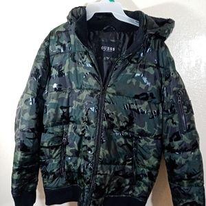 Guess Camo Puffer Coat